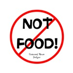 NOT FOOD! sticker - Unamused Mouse Designs
