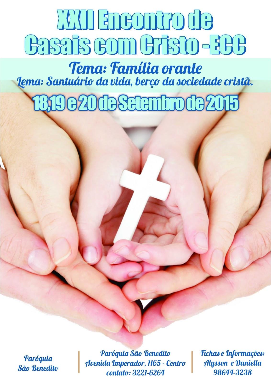 XXII ECC São Benedito: Inscrições abertas!