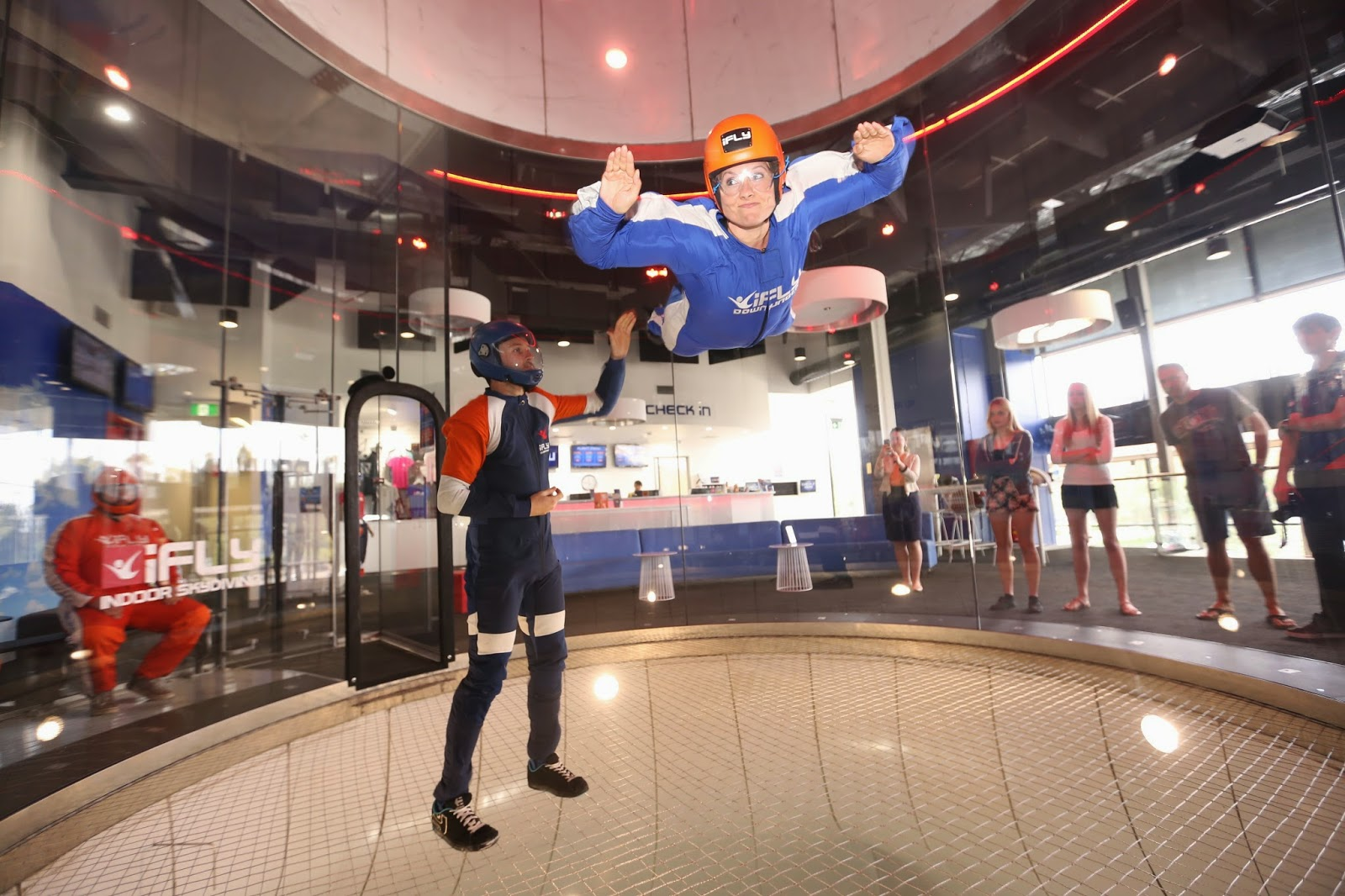Indoor skydiving ifly