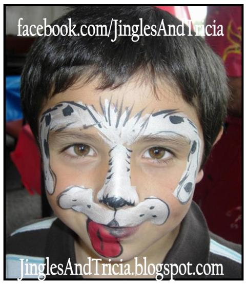 Boy Puppy Face Painting Skull boys face painting