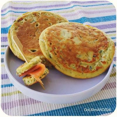 image-Pancakes salés : courgette - curry