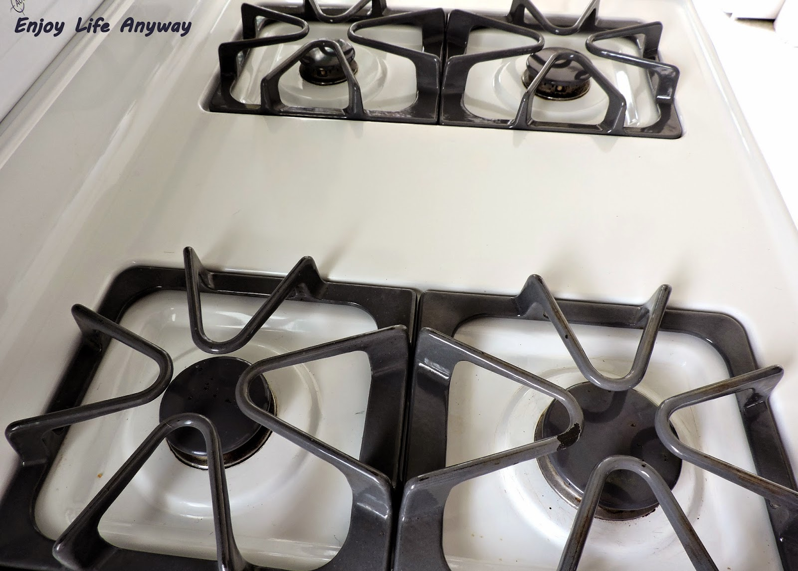 Enjoy Life Anyway: The Easy Way To Clean Stove Burner Grates (Or ...