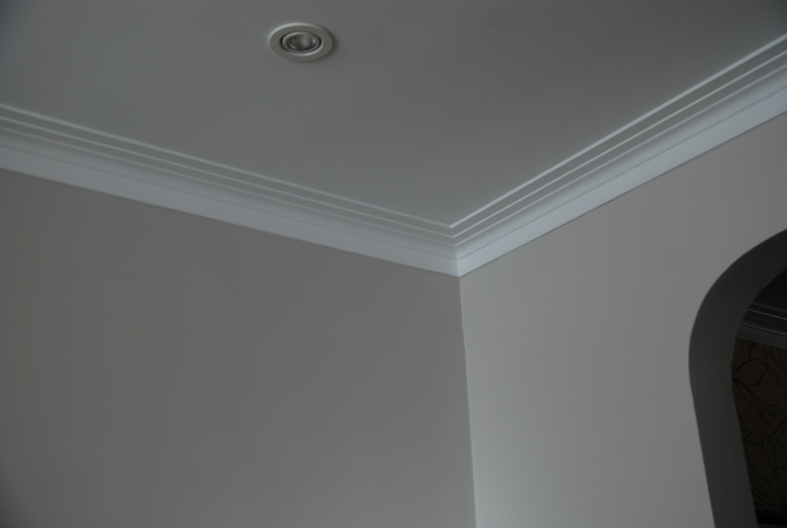 Light Gray Paint with White Crown Molding 1600 x 1074