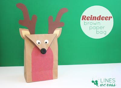 Embalagem de rena natalina para fazer em casa