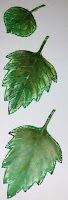 The Crafty Thinker, How to make realistic stamped leaf