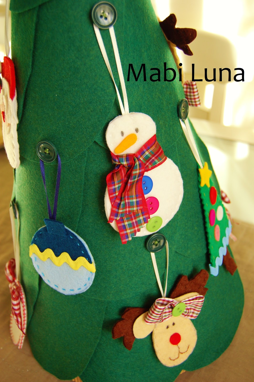 Mabi luna rbol de navidad de fieltro manualidades - Manualidades de navidad para ninos pequenos ...