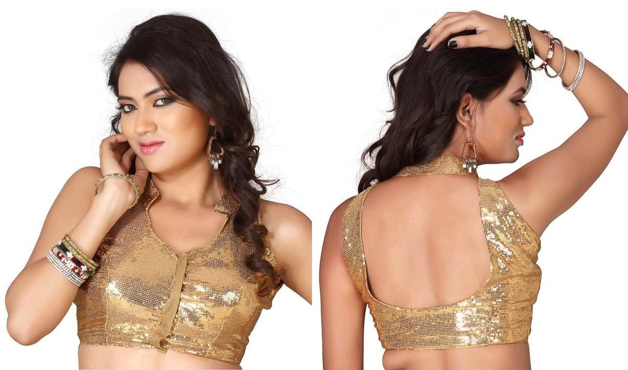 Latest Style Designs Sarees Blouses Back And Front Wallpapers Free Download