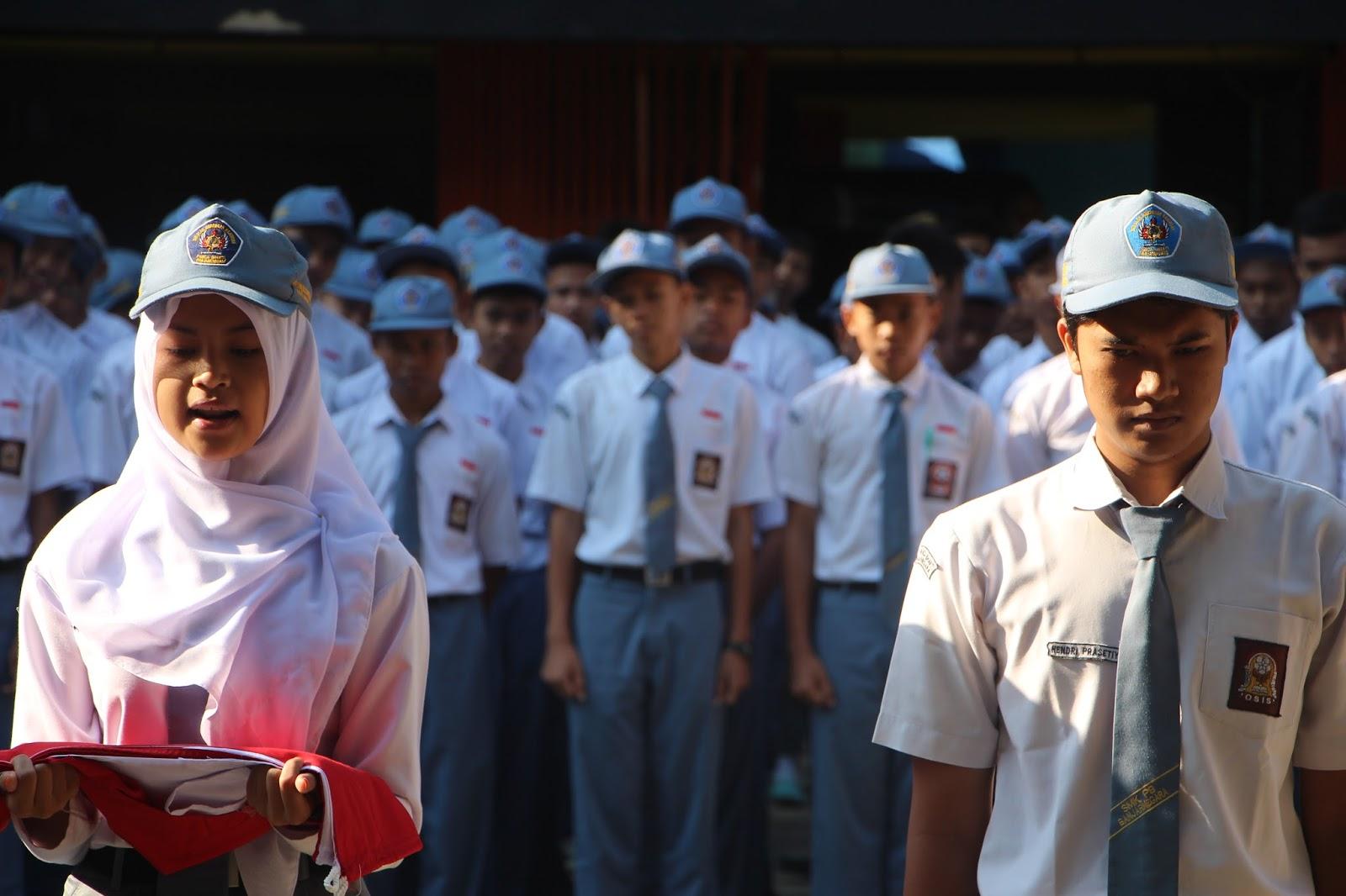 Serah terima Ketua Osis Lama ke Baru 2015