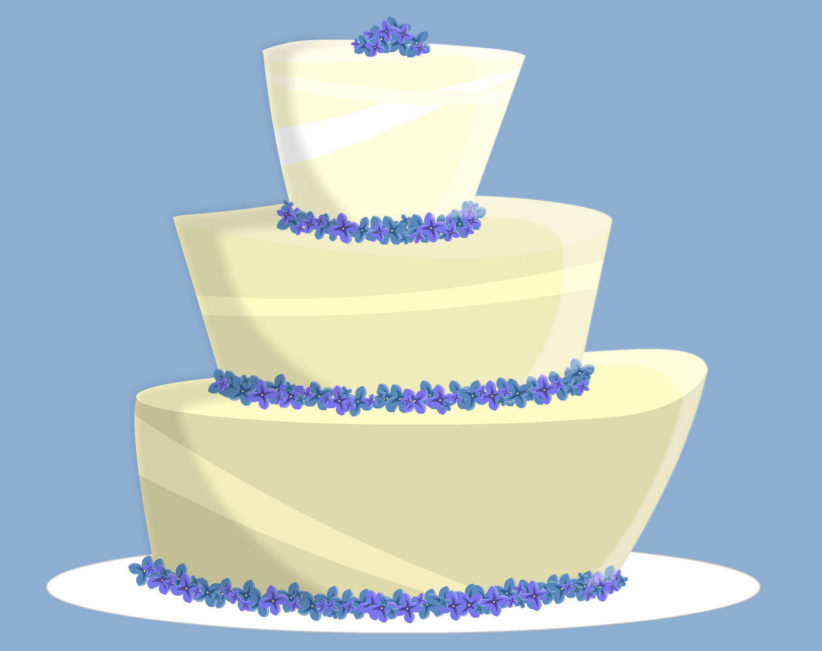 Seven Blue Orchids: Drawing a Day: Hydrangea Cake