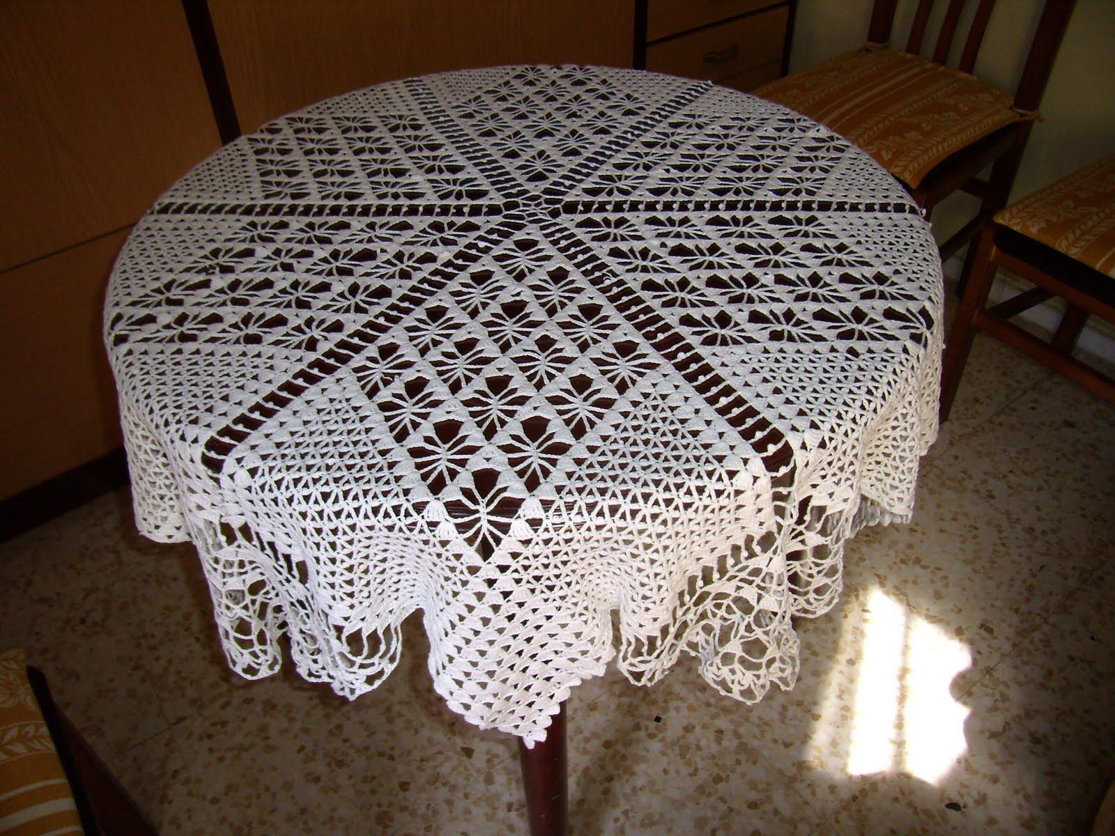 Ideas de crochet mantel de crochet - Mantel de crochet ...
