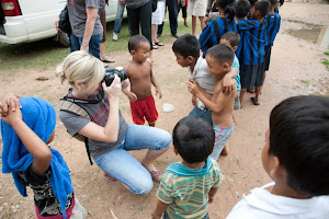 Photo shoot at an orphanage in Cambodia