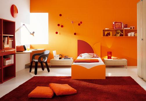 decoration couleur orange