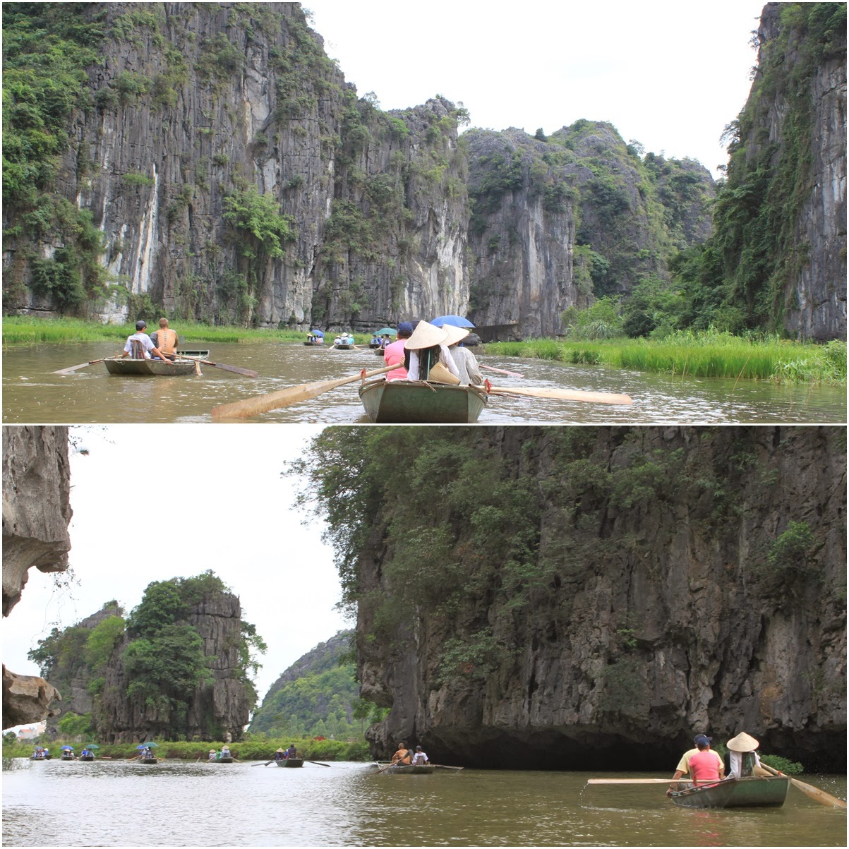 Another beautiful natural landscape scenery on the way back to the port of Tam Coc near the city of Ninh Bình in northern Vietnam