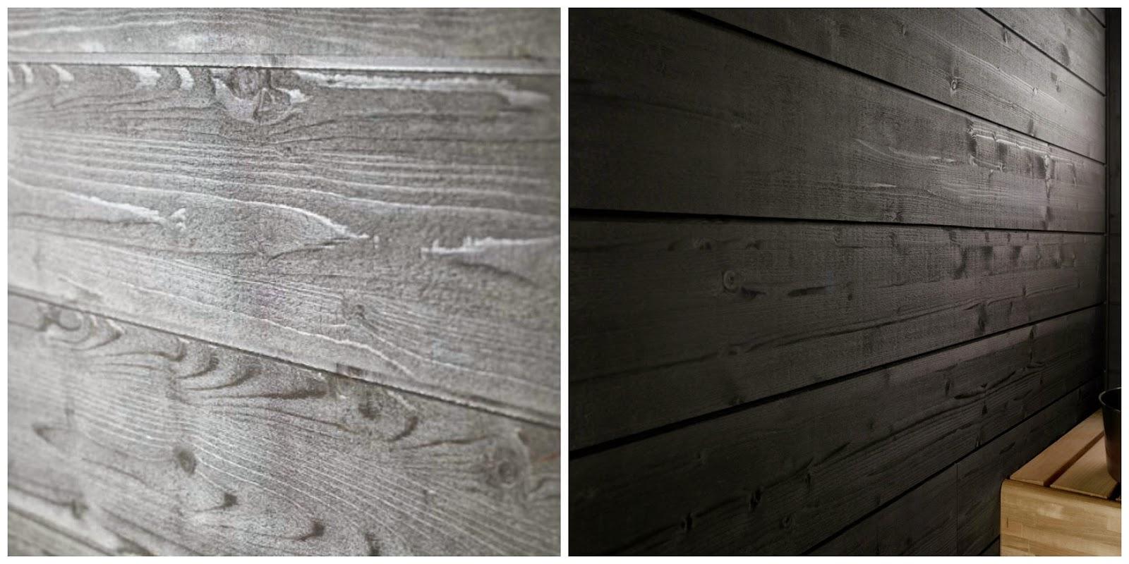 Helmiäisharmaa Siparila Struktuuri 176 -saunapaneeli saunan seiniin ja kattoon.