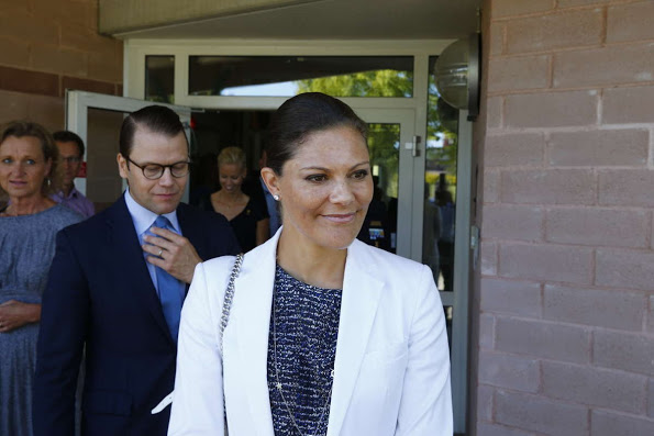 Princess Victoria And Prince Daniel Visit The Swetox In Södertälje