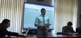 Aspecte din timpul comunicării susţinută de drd. Paul Daniel Nedeloiu, 14.06.2011...