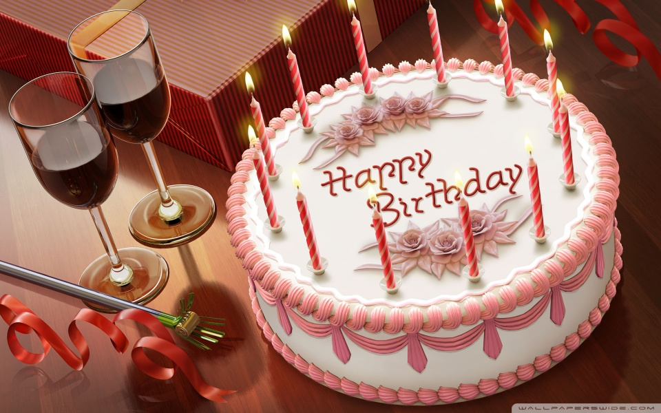 Happy Birthday HD Images of Cake with Candles