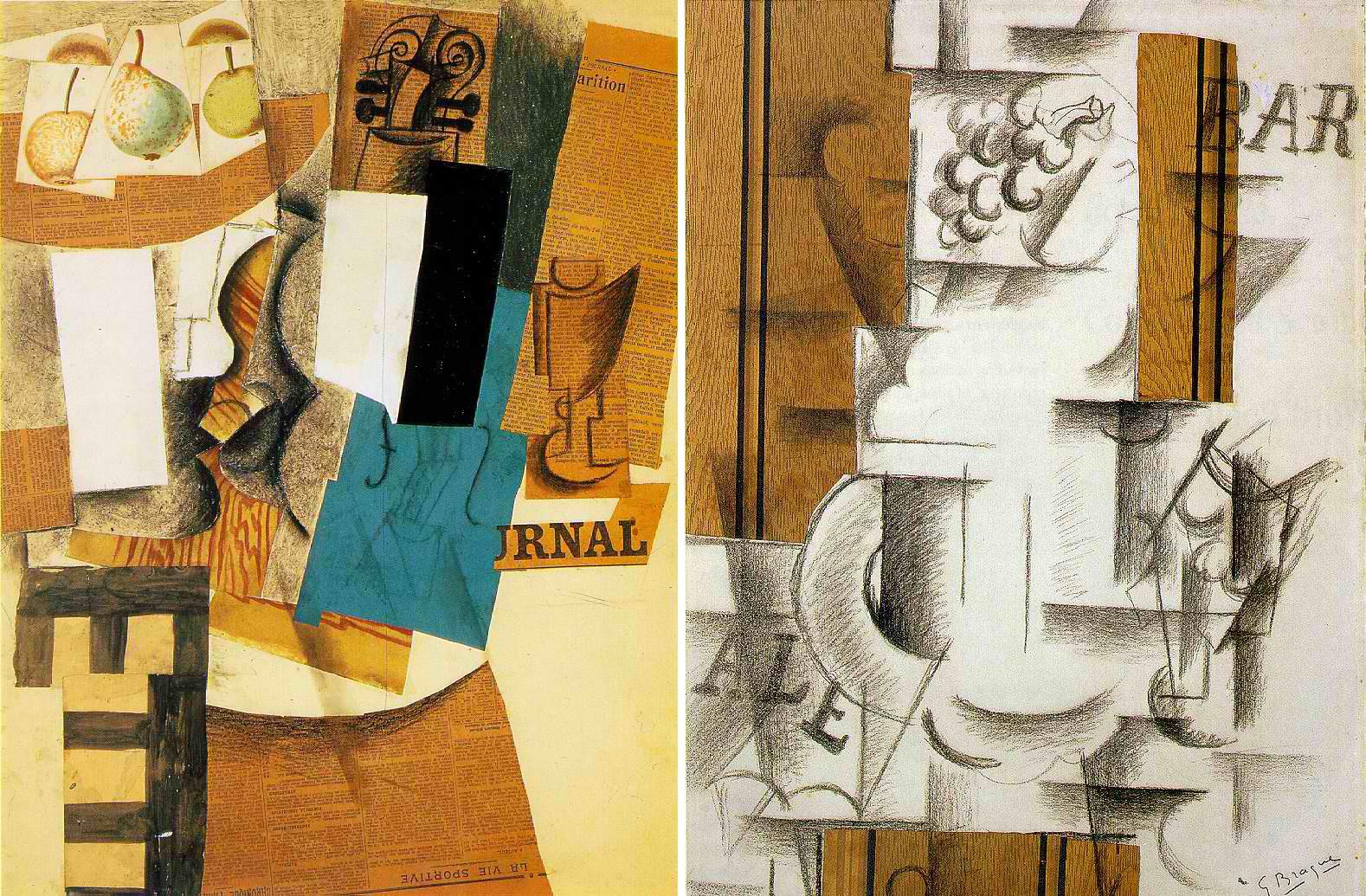 la sopa de sartel: Collage: sus orígenes, Picasso y Braque