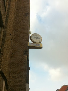 Old sign for E.Higgs, Air Agency, St. John's Lane, London EC1