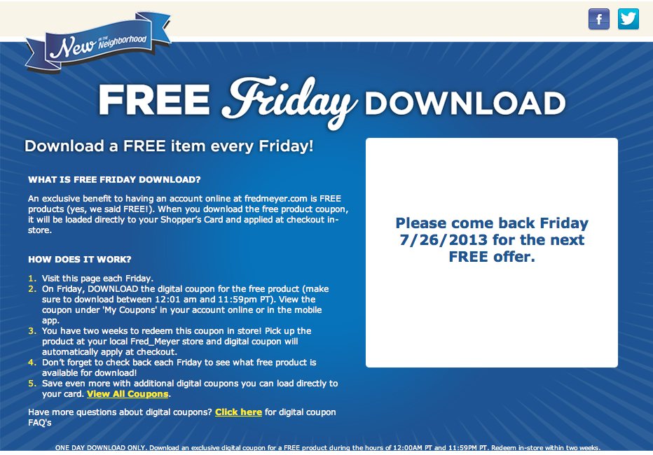 Pick Up A Free Item Every Friday From Kroger Fred Meyer The