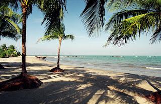 A beautiful scenery of coconut island - ST. Martin's