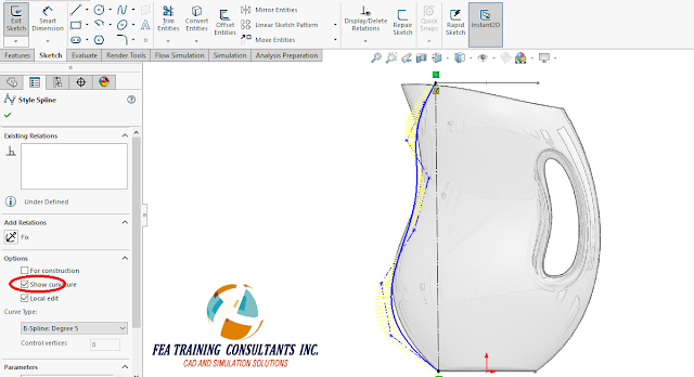 spline and surfaces new features solidworks 2016