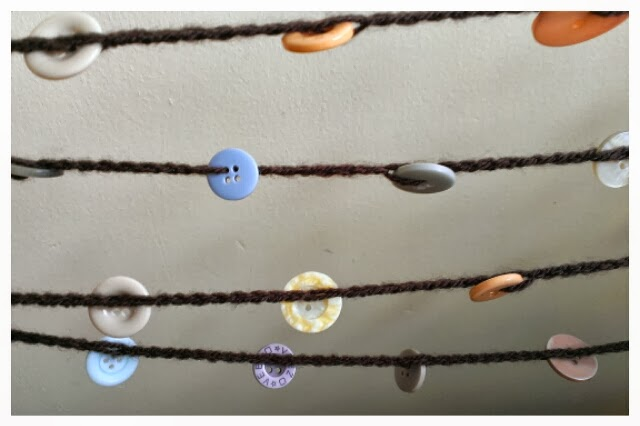 Miss Chaela Boo - Five ideas for crafting with buttons - crochet button garland