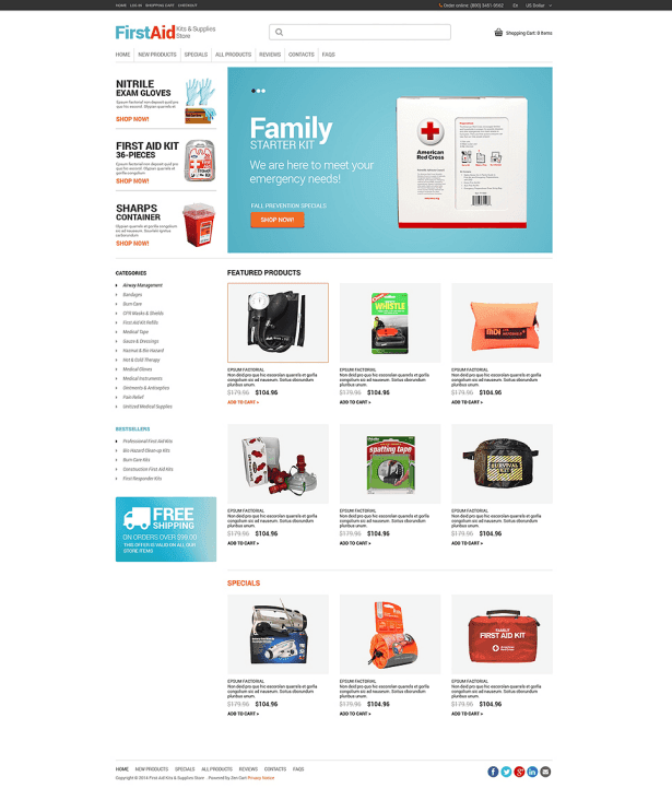 Ambulance ZenCart Template