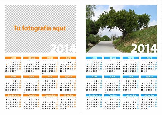 calendario 2014 con tu foto gratis gimp