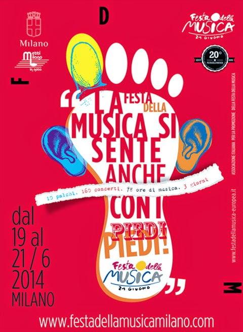 Dal 19 a sabato 21 giugno a Milano la Festa della Musica