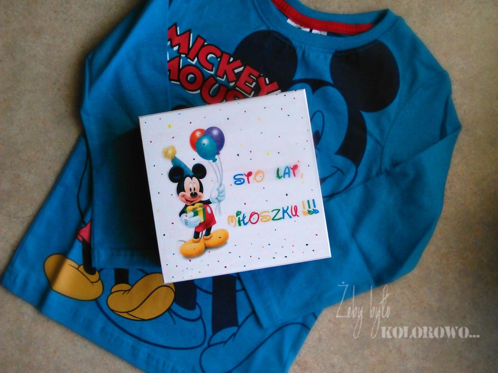 prezent z myszką Miki