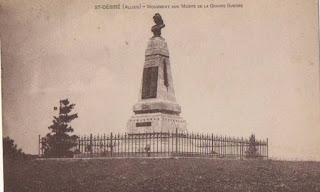 CPA monuments aux Morts de l'Allier, saint Désiré