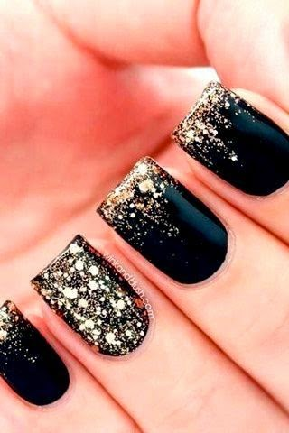 #Black #Nail Polish Design