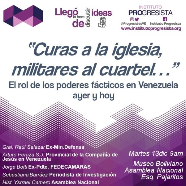 """Evento: """"Curas a la Iglesia, militares al cuartel"""", #13D @ProgresistasVe"""