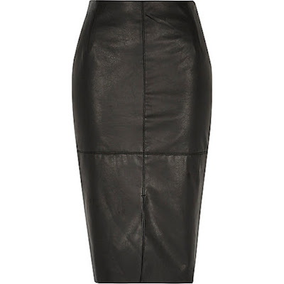 The Little Black Skirt River Island Faux Leather Skirt