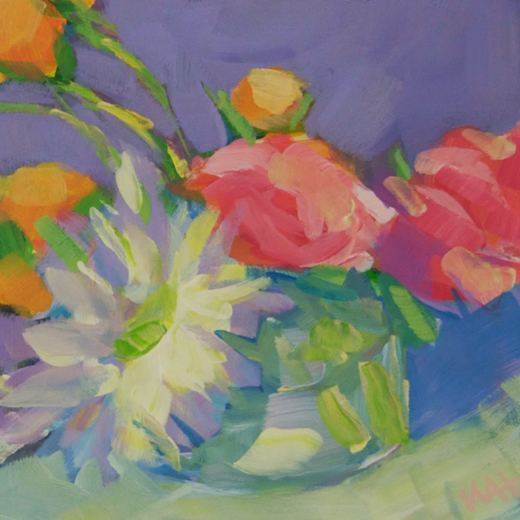 whitney heavey painting of flowers