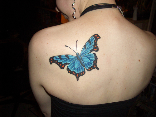 New Tribal Butterfly Tattoos Designs 2012