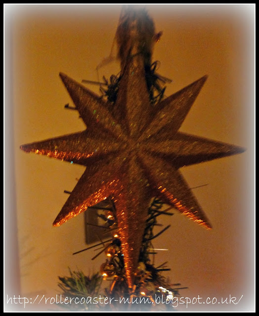 Christmas star on the tree