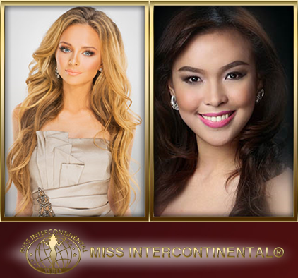 Miss Intercontinental 2013 Ekaterina Plekhovm of Russia (left) and Koreen Medina of Philippines, 3rd runner up (right)
