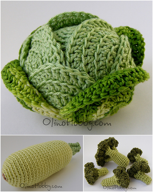 ... ??????? ???? ??????.Crocheted fruits and vegetables