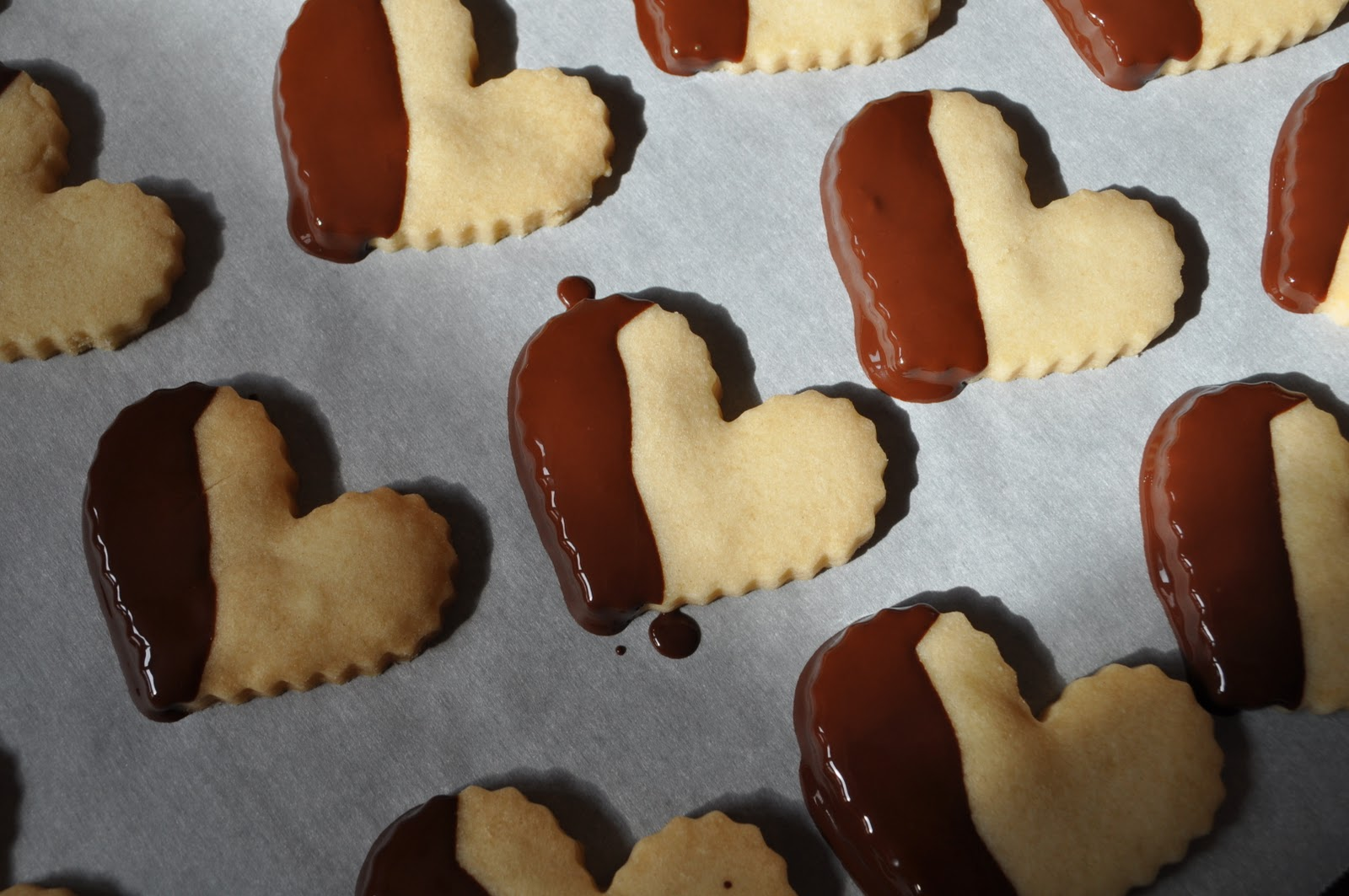 Kneading My Dream: Chocolate-Dipped Shortbread Hearts