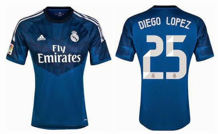 Jersey Real Madrid GK biru 2014/2015 Terbaru