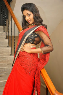 Actress Amitha Rao Pictures in Saree at Chandamama Kathalu Movie Press Meet 0063