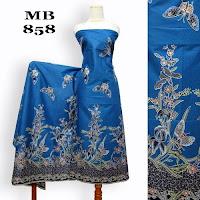 motif kain batik kembang biru