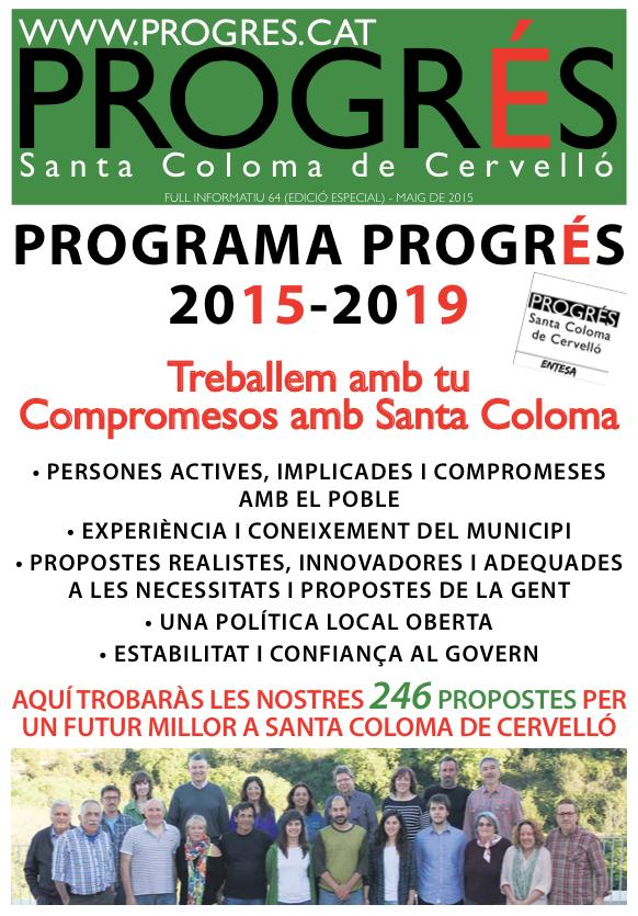 PROGRAMA PROGRÉS 2015-2019