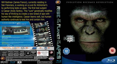 Rise of the Planet of the Apes dvd and blu-ray cover.