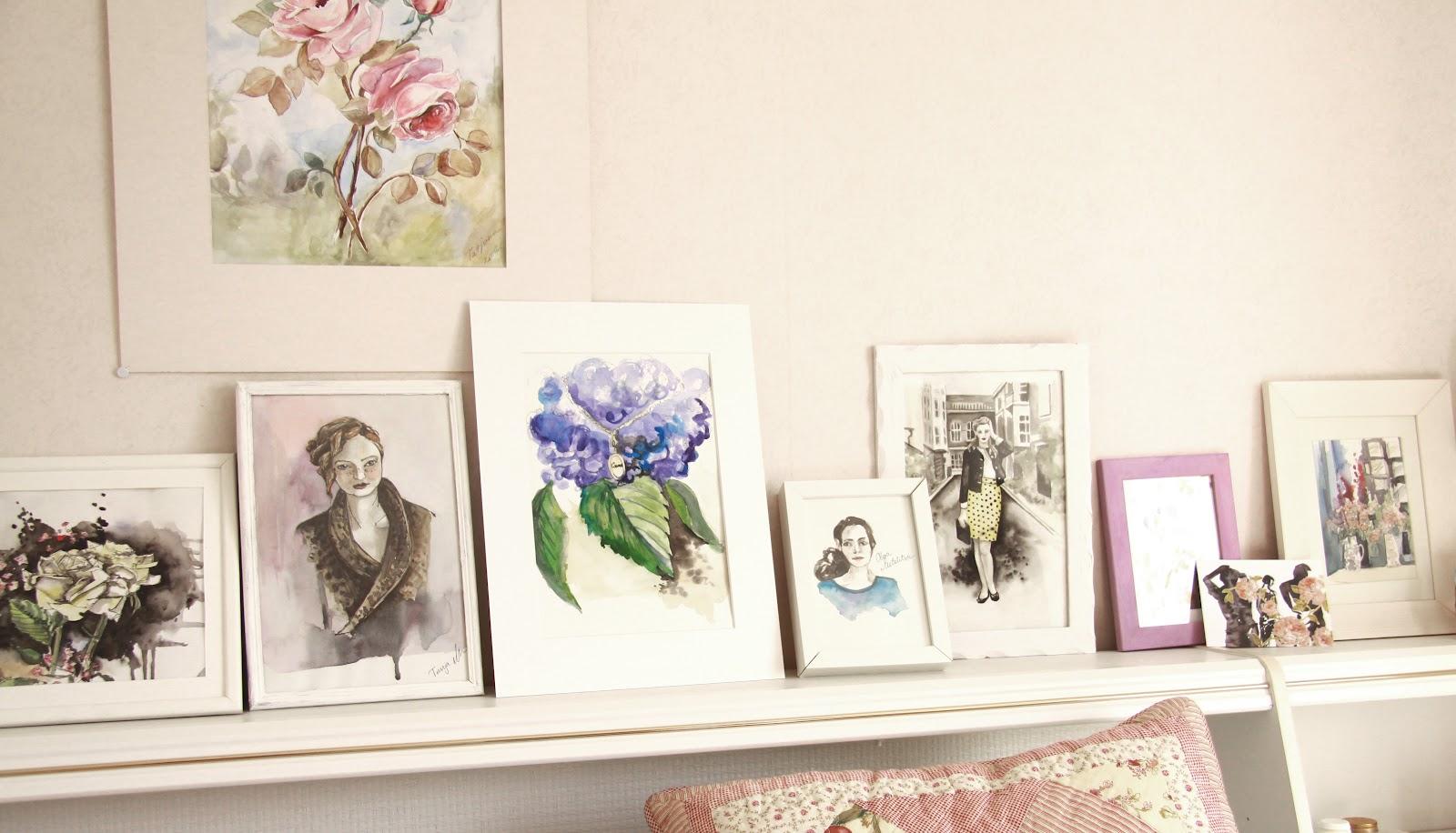 Häng med i den kreativa processen!: sovrummet och små tavlor