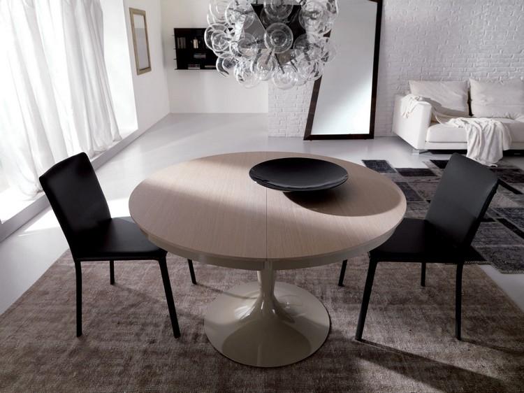 Mesas redondas extens veis decora o e ideias for Mesas de salon redondas
