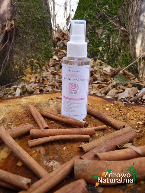 SHAMASA - Woda różana oraz olejek z kiełków pszenicy
