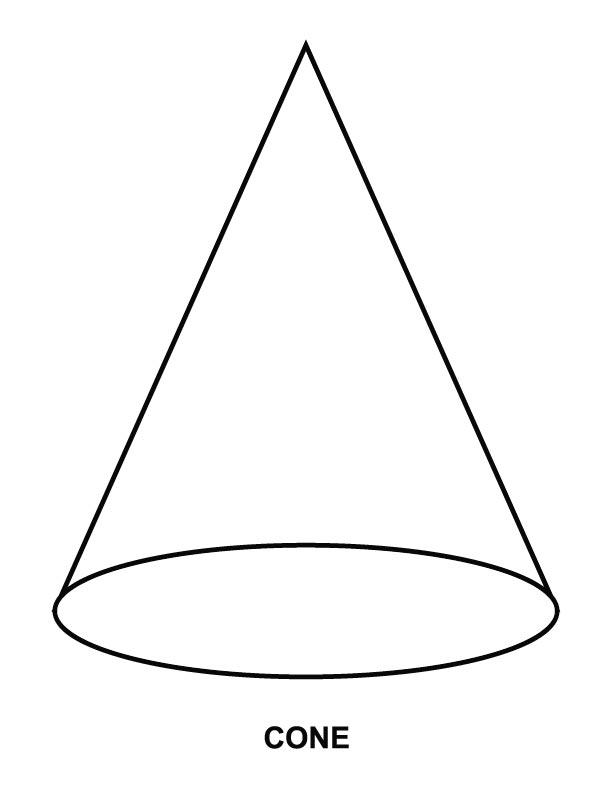 Cone Shape Coloring Page | Search Results | Calendar 2015